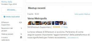 Ethereum Italia – Report Meetup 6 Aprile